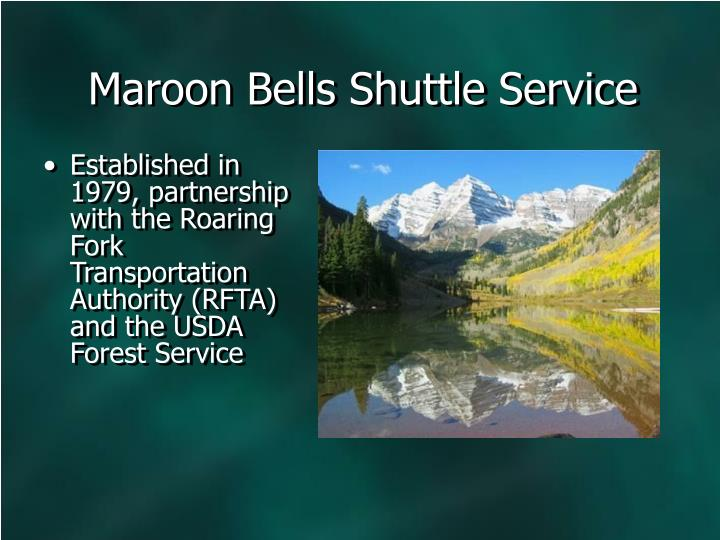 Maroon Bells Shuttle Service