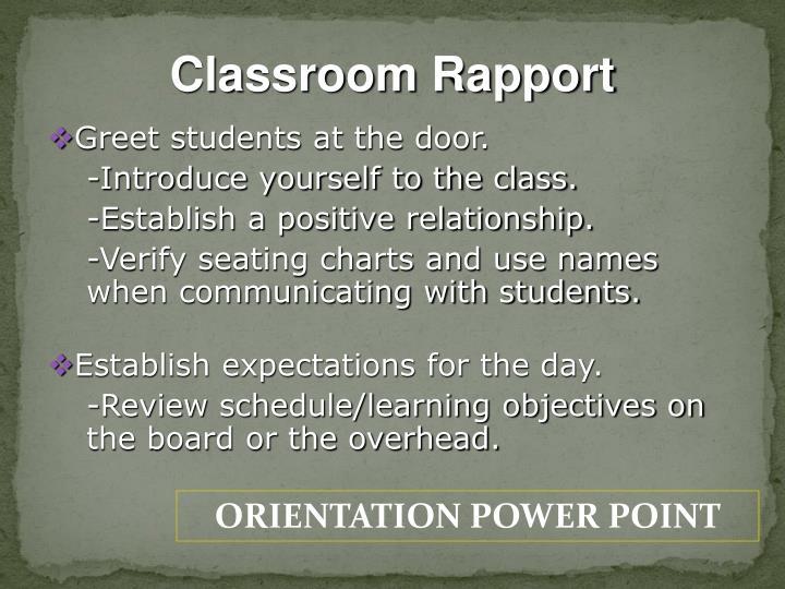 Classroom Rapport