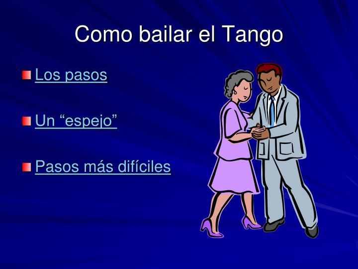 Como bailar el Tango