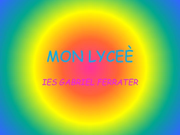 MON LYCEÈ