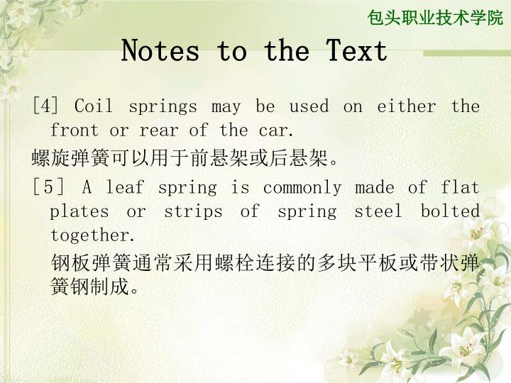 Notes to the Text
