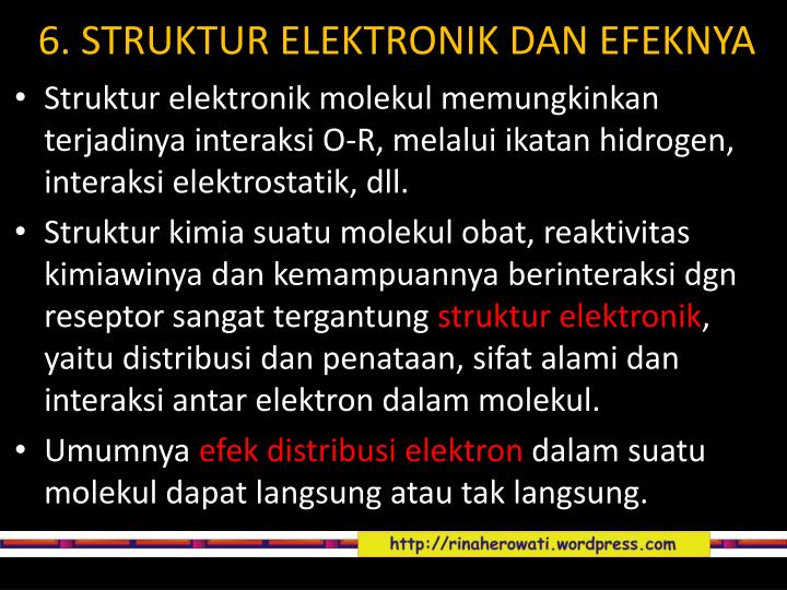 6. STRUKTUR ELEKTRONIK DAN EFEKNYA