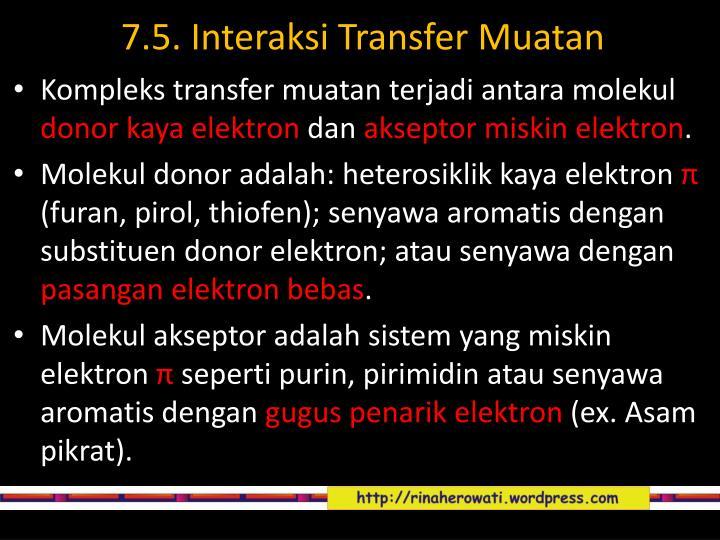 7.5. Interaksi Transfer Muatan