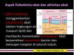 aspek fisikokimia obat dan aktivitas obat1