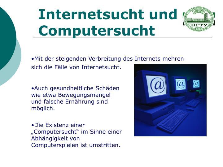 Internetsucht und Computersucht