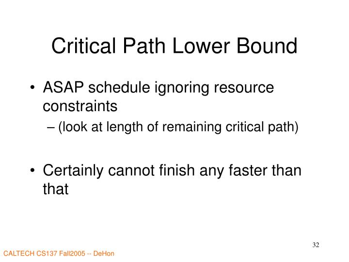 Critical Path Lower Bound