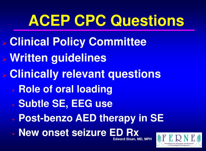 ACEP CPC Questions