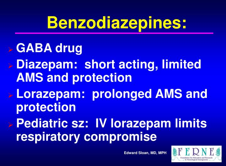Benzodiazepines: