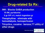 drug related sz rx