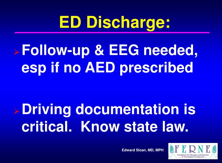 ED Discharge: