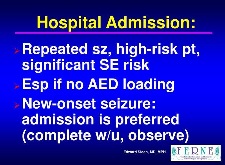 Hospital Admission: