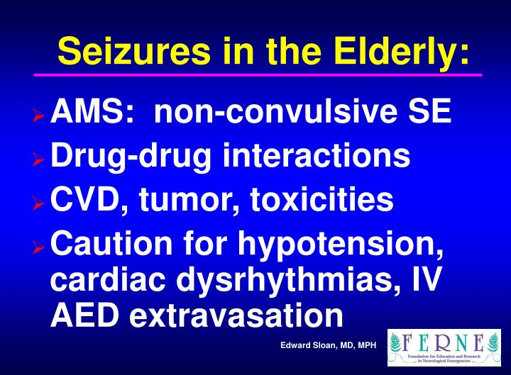 Seizures in the Elderly: