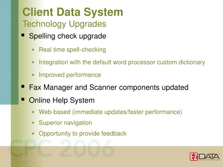 Client Data System