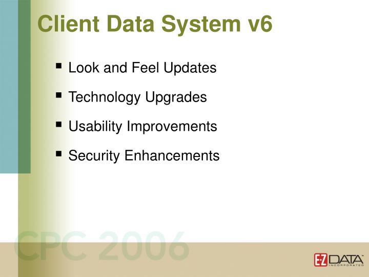 Client Data System v6