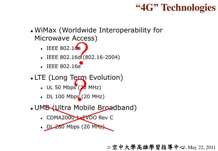 """4G"" Technologies"