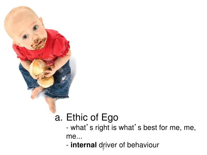 Ethic of Ego