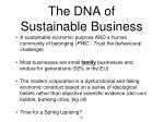 the dna of sustainable business