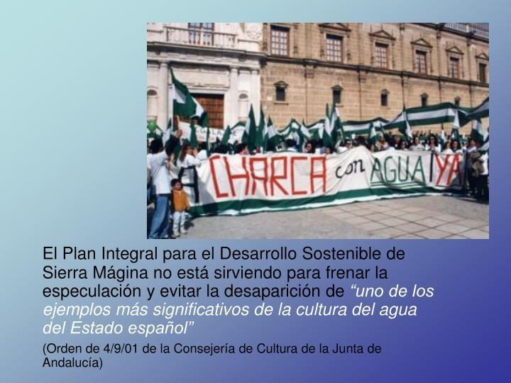 El Plan Integral para el Desarrollo Sostenible de Sierra Mágina no está sirviendo para frenar la especulación y evitar la desaparición de