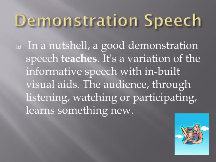 aids informative speech Lists of informative speech topic ideas just inform what does and involves visual aids so, in some ways, your informative speech topic is not.