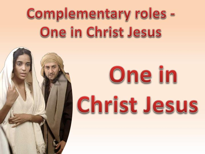 Complementary roles -