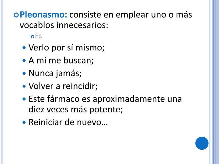 Pleonasmo: