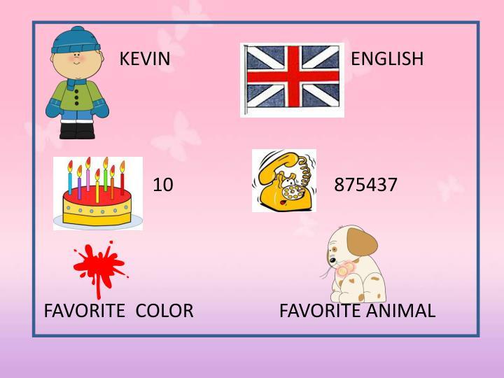 KEVIN                                      ENGLISH