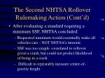 the second nhtsa rollover rulemaking action cont d