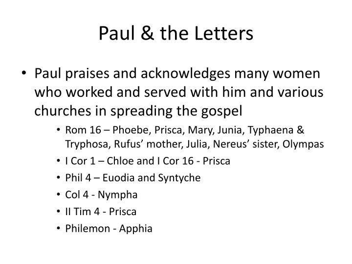 Paul & the Letters