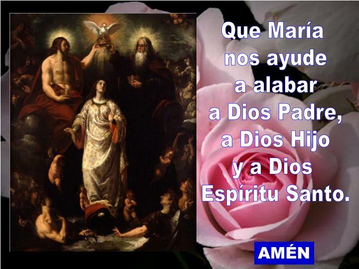 Que María