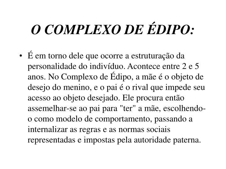 O COMPLEXO DE ÉDIPO: