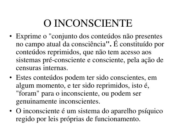 O INCONSCIENTE
