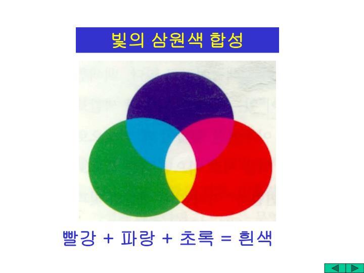 빛의 삼원색 합성