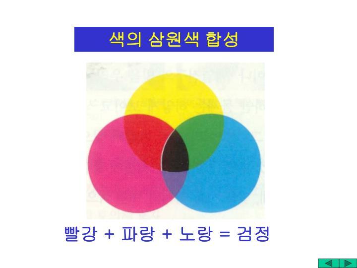 색의 삼원색 합성