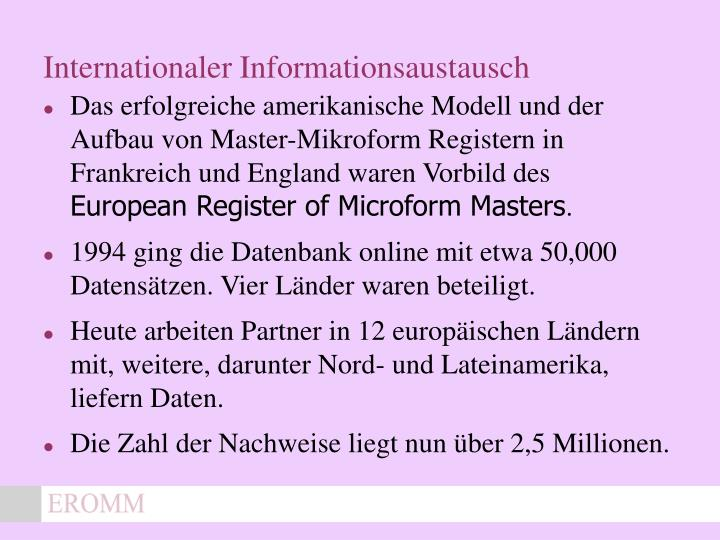 Internationaler Informationsaustausch
