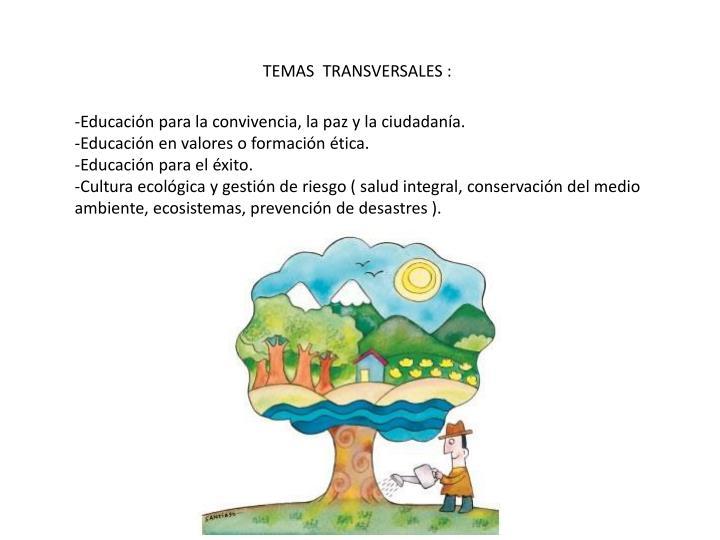 TEMAS  TRANSVERSALES :