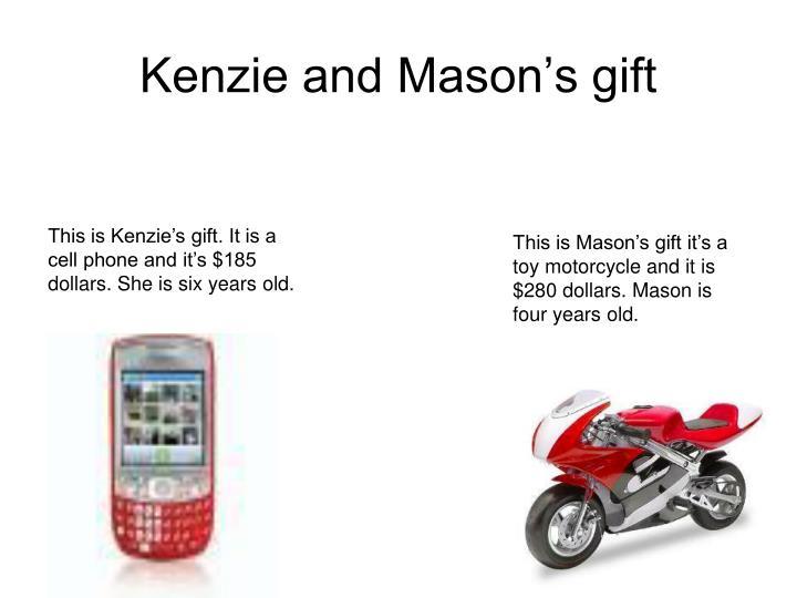Kenzie and Mason's gift