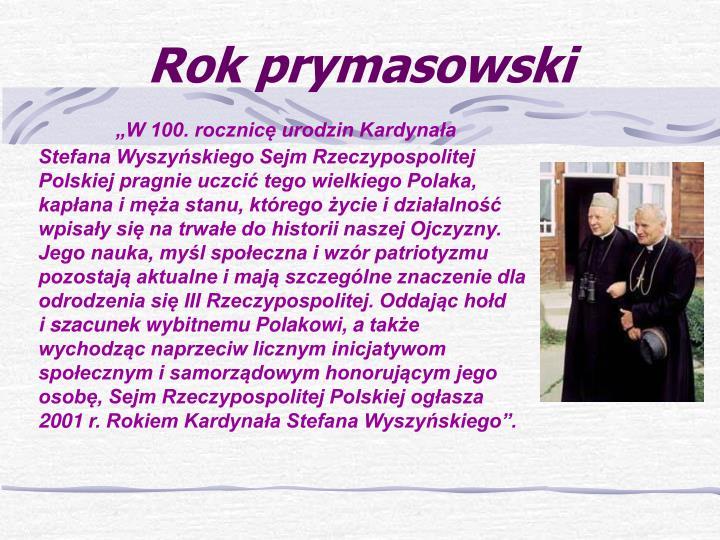 Rok prymasowski