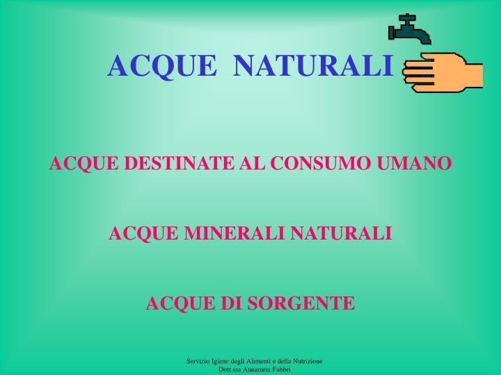 ACQUE  NATURALI