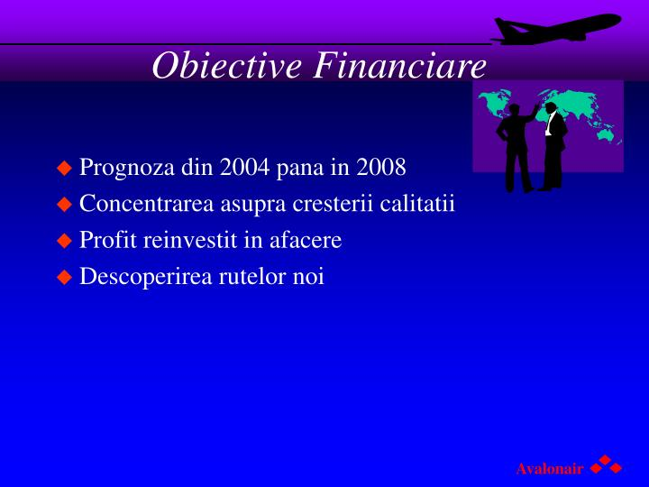 Obiective Financiare