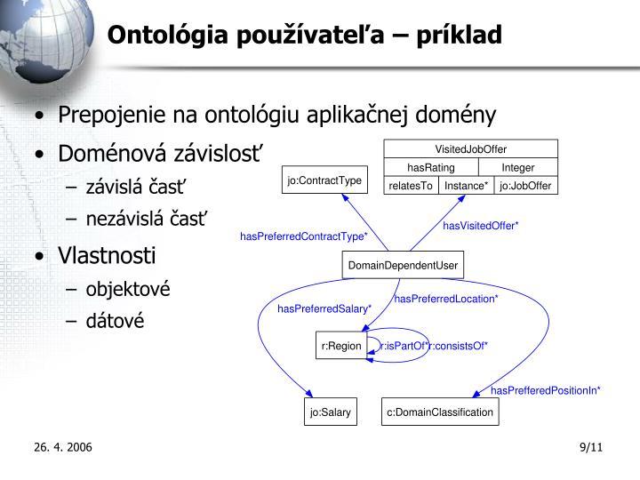 Ontológia používateľa – príklad