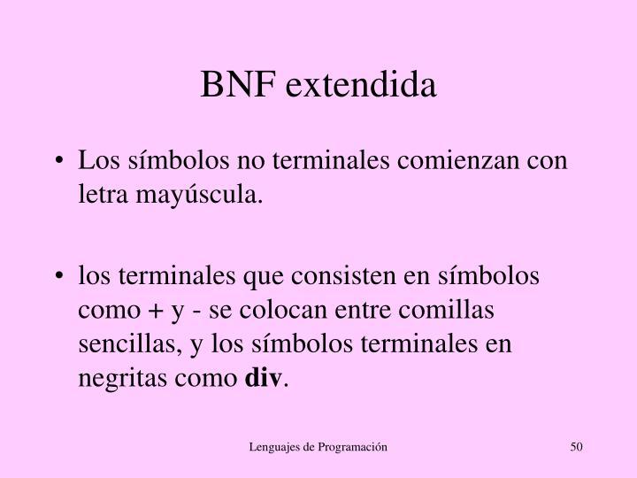 BNF extendida