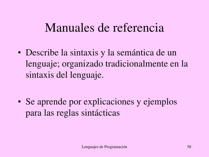 Manuales de referencia