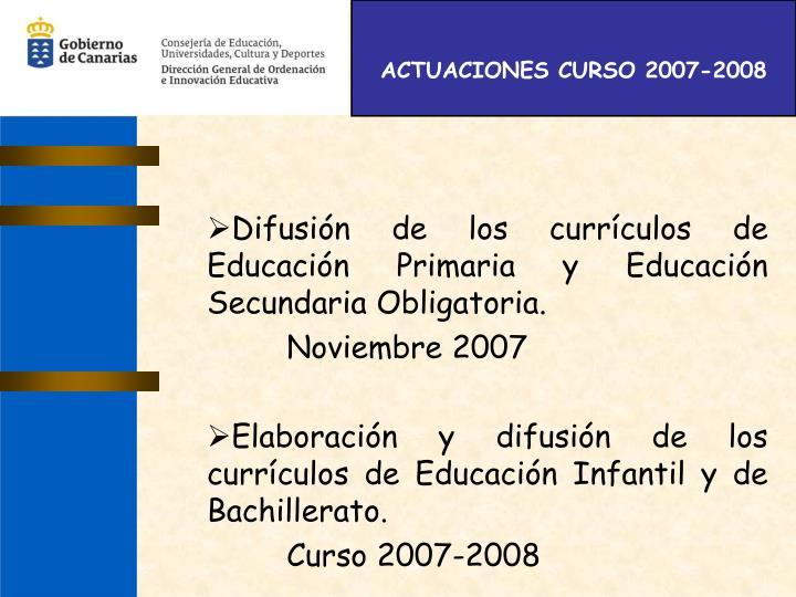 ACTUACIONES CURSO 2007-2008