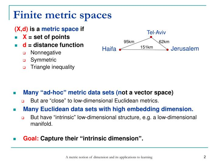 Finite metric spaces