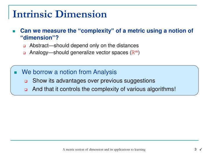 Intrinsic Dimension
