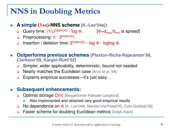 NNS in Doubling Metrics