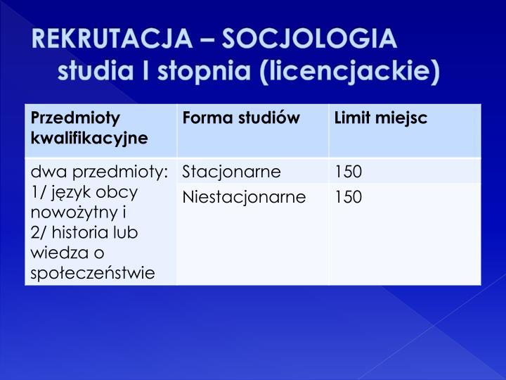 REKRUTACJA – SOCJOLOGIA