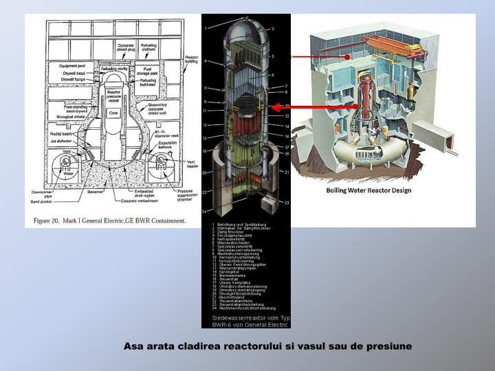 Asa arata cladirea reactorului si vasul sau de presiune
