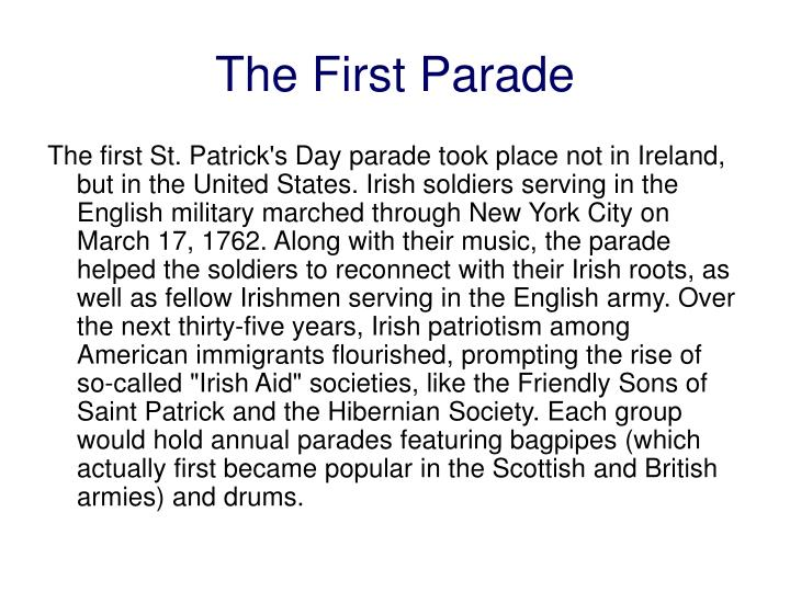 The First Parade