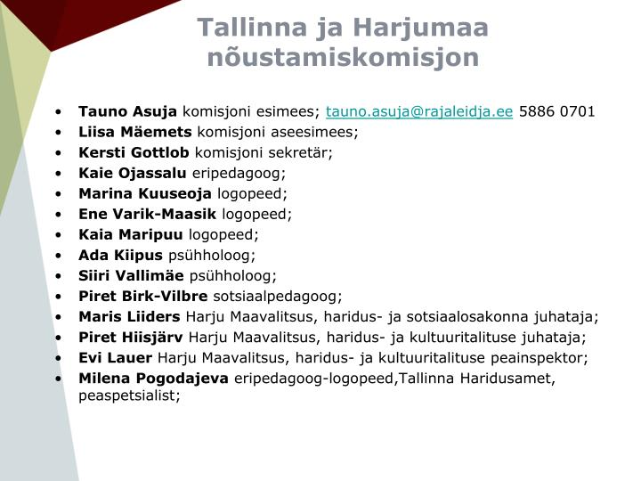 Tallinna ja Harjumaa nõustamiskomisjon
